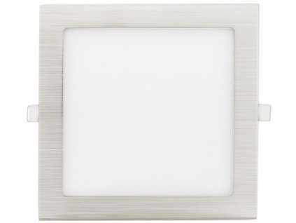 Chromový eingebauter LED panel 175 x 175mm 12W Warmweiß
